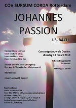 flyer Bach JohannesPassion
