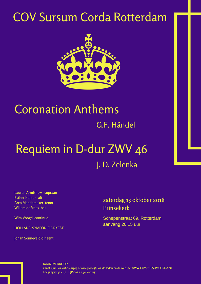 Flyer Coronation Anthems